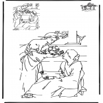 Bibel Ausmalbilder - Zeichnung vollenden  Bibel 1