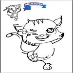 Malvorlagen Basteln - Zeichnung vollenden - Katze