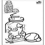 Malvorlagen Basteln - Zeichnung vollenden - Süßigkeiten