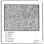 Malvorlagen Basteln - Ziffermalen