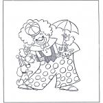 Allerhand Ausmalbilder - Zirkus clown
