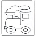Ausmalbilder für Kinder - Zug