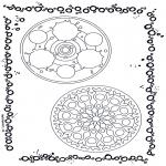 Malvorlagen Mandalas - Zwei-Mandala