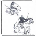 Allerhand Ausmalbilder - Zwei Soldaten